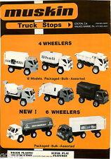 1977 ADVERT 2 PG Muskin Toy Trucks Sea Land Shell Tanker US Army Big Bull Dump