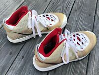 NIKE LEBRON JAMES AIR MAX FLYWIRE TAN RED MENS BASKETBALL SHOES SNEAKERS 10