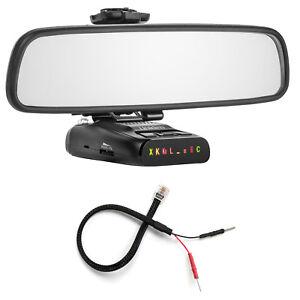 Mirror Mount Bracket + Mirror Wire Power Cord for Uniden DFR