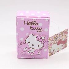 women girl Hello leather Cigarette Case Box Holder Holds 20 Cigarettes kitty