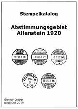Abstimmungsgebiet Allenstein,neuester Stempelkatalog von Gunnar Gruber