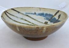 "Antique ? Japanese Hand Made Studio Art Pottery Ceremonial Tea Bowl (8.05"" long)"