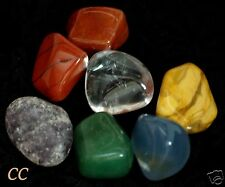 A set of Chakra Healing Crystal for Man 7 stone Tumbled for balance the body