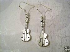 ROCK GUITAR Tibetan Silver Earrings SP Rockabilly MUSIC