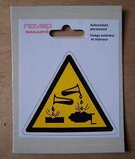 #) pictogramme adhésif signalisation danger : MATIERE CORROSIVE