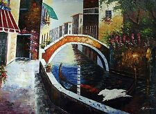 """BEAUTIFUL HAND-PAINTED CANVAS OIL PAINTING 48"""" x 36"""""""