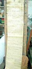 Antique Islamic Manuscript Persian Document On Cloth Farman Rare Collectibles