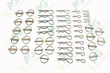 Assorted Linch Pins and R-Clip Pack for Tractor + Machinery (50 Pcs)