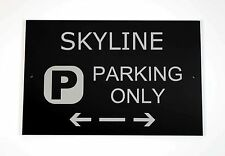 Skyline Parking Only Sign - Cars and Signage - Asscher Design - Great Britain