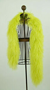 Schal aus echtem Tibetlamm x-lge 150cm lang Farbe Neon Gelb