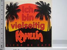 Aufkleber Sticker Kahlua - Licor de Cafe - Kaffeelikör (S1325)