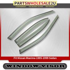 4x Window Visors Vent Rain Guards Shields for Nissan Maxima 1995-1997 1998 1999