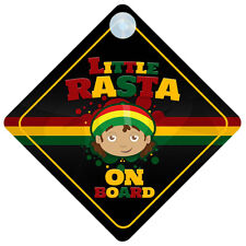 Little Rasta On Board Car Sign New Baby/Child Gift/Present