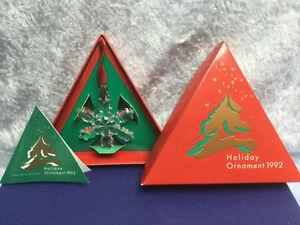 Swarovski Star Snowflake Christmas 1992 Ornament - 168690 / SCO1992. MIB+COA