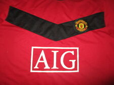 2010 MANCHESTER UNITED AIG Jersey Large Soccer Football