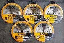 """(25-pk) DEWALT DW3592B5LX DW3192 DW3592 7-1/4"""" 18T Circular Saw Blades"""