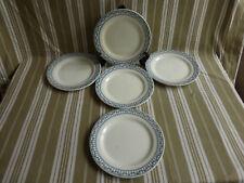 """5 assiettes plates salins bm,terre de fer,service """"sermaize"""""""