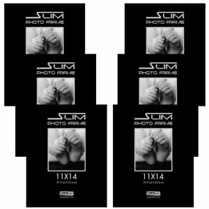 Studio 500 11x14 The Original Slim Photo Frames~Tempered Glass 4X Stronger, 6P