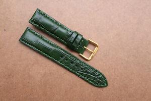 21mm/16mm Genuine Crocodile Alligator Skin Leather Watch Strap Band With Buckle