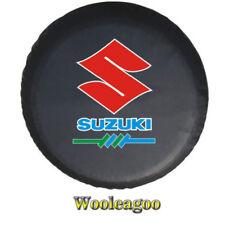 """Spare Tire Cover 14""""/ 15"""" SUZUKI Grand V itara XL-7 Heavy Denim Vinyl Tire Cover"""