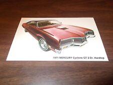 1971 Mercury Cyclone GT 2-Door Hardtop Advertising Postcard