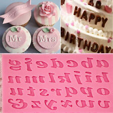 New DIY Silicone Letter Cake Mould Mat Fondant Sugar Craft Mold  Decorating Tool