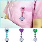 Lovely Women Ladies Smiling Face Pocket Watch Heart Pendant Quartz Nurse Watches