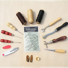 Neu Leder-Handarbeiten-Werkzeug Näh-Bedarf Zubehör Werkzeuge 14 Pcs Set
