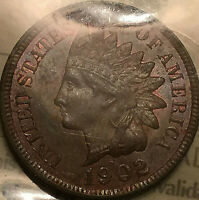 1902 USA INDIAN HEAD SMALL CENT PENNY - ICCS MS-63 Uncirculated