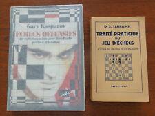 ECHECS OFFENSIFS Kasparov Tirage de Tête 20/25. Tarrasch. Ultra Rare Chess Books