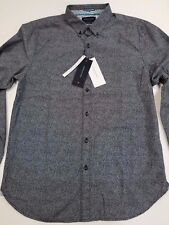 Denim & Flower Ricky Singh Slim-Fit Button Up Front Long Sleeve Shirt RARE NEW