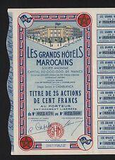 DECO => LES GRANDS HÔTELS MAROCAINS (CASABLANCA MAROC) (B)