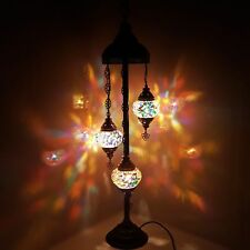 Handmade Turkish Moroccan Tiffany Style Glass Mosaic Floor Lamp Night Light