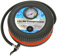 Plug In 12V Air Pump Inflation Air Compressor With Dial 250psi + Bike Adapters
