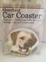Yellow Lab Sandstone Absorbent Dog Breed Car Coaster