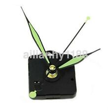 Clock Motor For Wall Clock Replacement Movement Parts Green Hands Tool Kit US