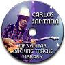 50 CARLOS SANTANA STYLE MP3 ROCK GUITAR BACKING JAM TRACKS CD LIBRARY ANTHOLOGY