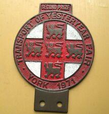 United Kingdom Transport of Yesteryear Fair York 1971 Vintage Car Badge
