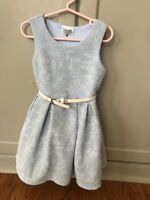 Beautees Toddler Girls 3T Blue Floral Dress Sleeveless belt New With Tags
