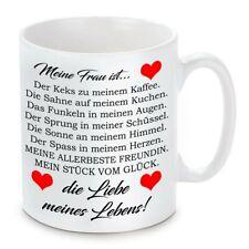 Herzbotschaft® Tasse mit Motiv: Mein Frau ist die Liebe meines Lebens