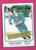 1981-82 OPC # 269 NORDIQUES PETER STASTNY ROOKIE GOOD CARD (INV# D7636)