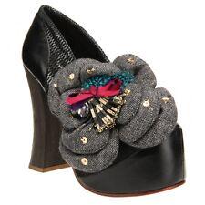 NEW Irregular Choice Black Leather Platform Shoes size 39/7.5US