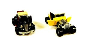 """2 1989 GALOOB MICRO MACHINES """"DELUXE"""" CARS THAT OPEN UP '36 FORD & '32 HOTROD"""