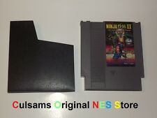 NINTENDO NES NINJA GAIDEN II 2 THE DARK SOWARD OF CHAOS WITH SLEEVE & GUARANTEE