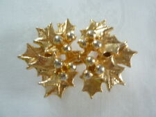 """Vintage Mimi Di N Gold Tone 2 Piece Belt Buckle w/ HOLLY for 1-1/4"""" Belt 1981"""