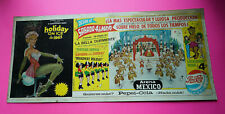 Mexican Mexico vintage lobby card poster HOLIDAY ON ICE Pepsi Cola pin up 1963