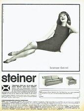 PUBLICITE ADVERTISING 037  1964   fauteuil canapé Steiner