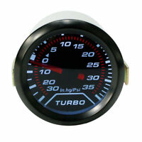 Universal 52mm 2″ LED Car Turbo Boost Pressure Gauge Meter Smoked Dials Psi 12v