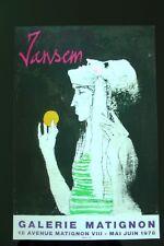 Lithographie MOURLOT Affiche JANSEN 1978