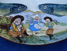 SUPERBE / Very nice ! ASSIETTE PUBLICITAIRE / Advertising plate - AMIEUX FRERES